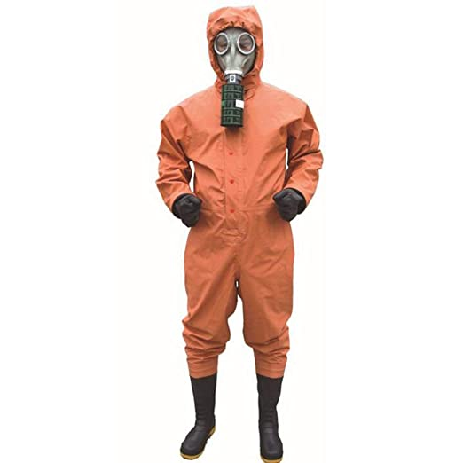 KLGU Ropa de protección química con ácido de Capucha, álcali ...