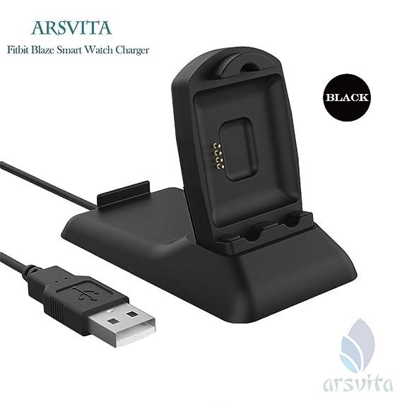 Amazon.com: Arsvita Fitbit Blaze – Cargador de estación de ...