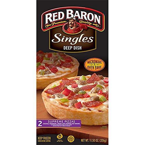 Red Baron Deep Dish Single Supreme Pizza, 12 Ounce - 12 per case.