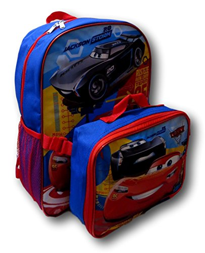 "Disney Pixar Cars Lightning McQueen 16"" Backpack W/ Detachab"