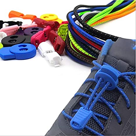 74a5f8b8aa7a Image Unavailable. Image not available for. Color  papakoo No Tie Elastic  Shoelaces ...