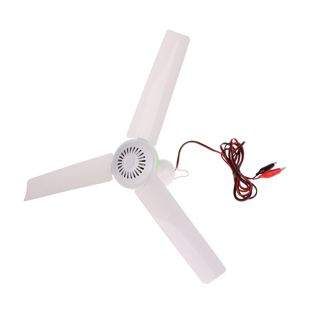 Fxco 6 W Plastic 3 Blade Brushless Conversion Motor Battery Mini Ceiling Fan Switch
