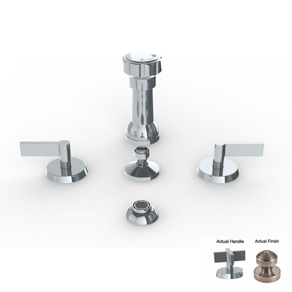Watermark 37-4-BL3-PT Pewter Blue 4 Hole Bidet durable modeling