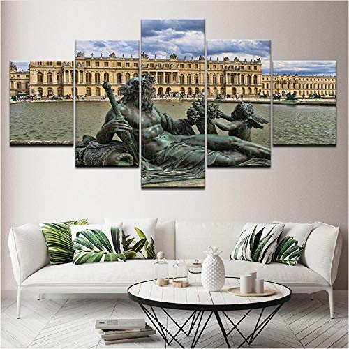 (Alasijia Canvas Painting Yale University Art Gallery 5 Pieces Wall Art Painting Modular Wallpapers Poster Print Living Room Home Decor-40CMx60/80/100CM)