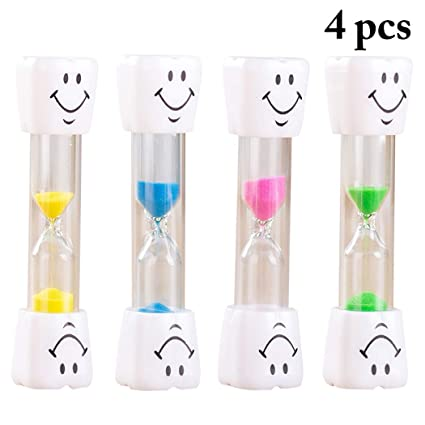 Outgeek Hourglass Timer 3 Minutes Smile Face Sand Clock Sand Timer for Table Decor