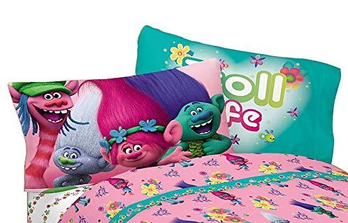 Amazon.com: DreamWorks trols Reversible Funda de almohada ...