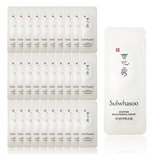 30 X Sulwhasoo Sample Snowise Brightening Cream 1ml. Super Saver Than Normal Size