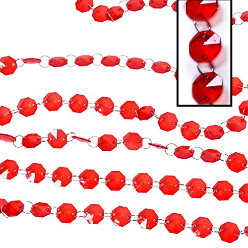 Red 30ft. Acrylic Crystal Beaded Garland