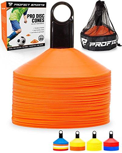 Orange Disc Cone Set - 3