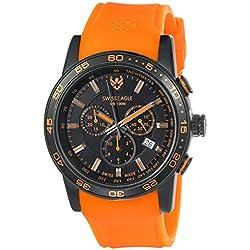 Swiss Eagle Men's SE-9057-09 Terrain Analog Display Swiss Quartz Orange Watch