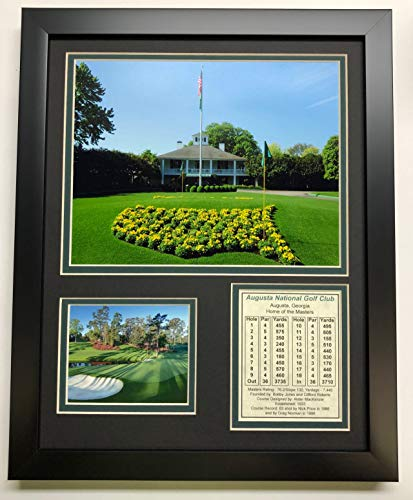 "Legends Never Die Augusta National Golf Course Clubhouse Framed 12"" x 15"" Double Matted Photo"
