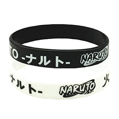 WerNerk Anime Naruto Silicone Bracelet Wristbands Silicone Band Naruto Shippuden Party Supplies Wristbands for Kids Birthday Party Favors(2PCS): Jewelry