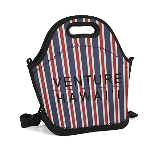 - Milr Gile Custom Lunch Box Venture Hawaiian Resuable Insulated Thermal Tote Lunch Bag