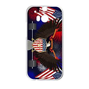 VOV US flag and eagle sign Cell Phone Case for HTC One M8