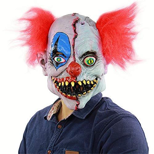 仮面 ピエロ 髪の毛がついた マスク ホラー 恐怖 怖い 仮装マスク ジョーカー 悪魔 ドッキリマスク 被り物 ラテックス製 ハロウィン 面具 イベント パーティー 変装 演劇 お祭り コスプレ小道具 仮装グッズ
