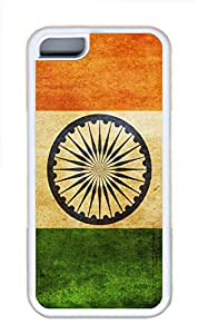 iPhone 5C Cases & Covers - India Flag TPU Custom Soft Case Cover Protector for iPhone 5C¨CWhite