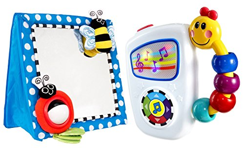 Sassy Floor Mirror, Blue with Take Along Tunes Musical Toy by Sassy