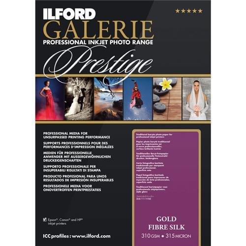 ILFORD 2004001 GALERIE Prestige Gold Fibre Silk - 13 x 19 Inches, 25 - Fiber Silk Gold