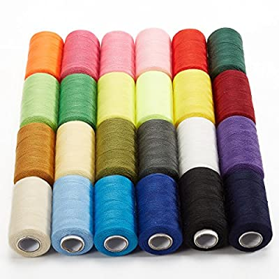 Sewing Threads,BANGCHIC Polyester Sewing Thread, 24 Assorted Colors Spool 1000 Yards Each for an exhilarating sewing experience by Bangchic Co.,Ltd