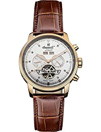 """Ingersoll Men's IN4511RSL """"Okies"""" Stainless Steel Automatic Watch with Brown Genuine Leather Band"""