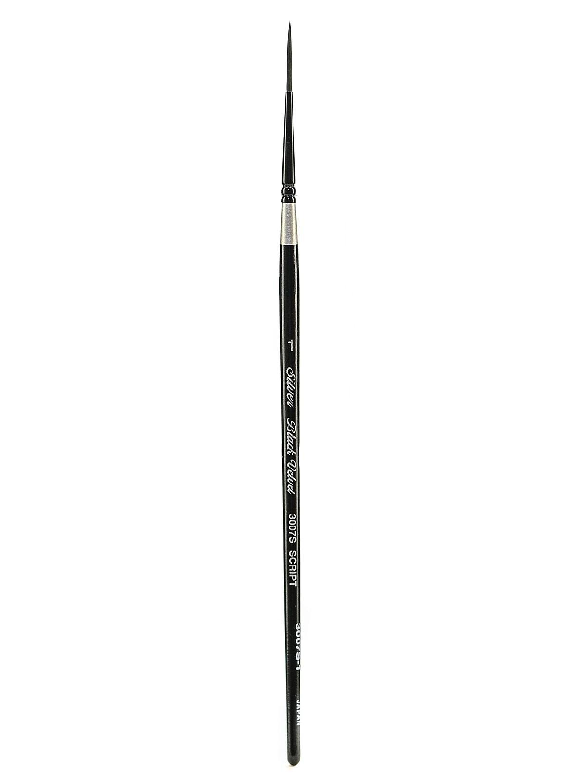 Silver Brush Black Velvet Series Brushes 1 script liner 3007S [PACK OF 2 ]