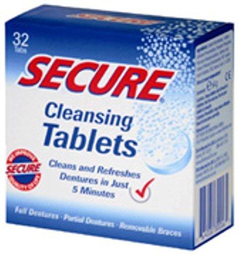 Secure Denture Cleansing Tablets 32 ea (Pack of 3)
