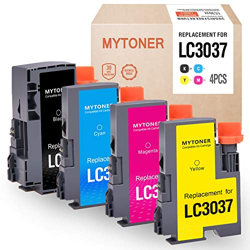 Mytoner Compatible Ink Cartridge Replacement for Brother LC3037 LC3037BK/C/M/Y High Yield Tank Ink for Brother MFC-J5845DW MFC-J5845DWXL MFC-J5945DW MFC-J6545DW MFC-J6545DWXL MFC-J6945DW(4-Pack)