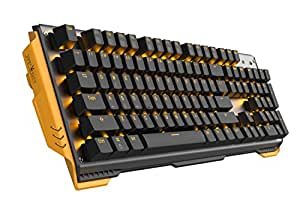 James Donkey 619 Mechanical Keyboard Brown Switch GATERON 104 Key 50 Million Click Programmable 13 Customize Backlit LED NKRO Anti Ghosting Aluminum Chassis USB for Gaming PC Desktop Laptop - Black