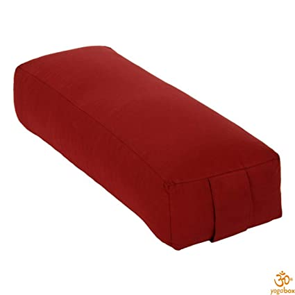 Yoga y Pilates Rechteckbolster Made in Germany, Burdeos ...
