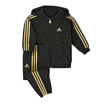 adidas black gold tracksuit