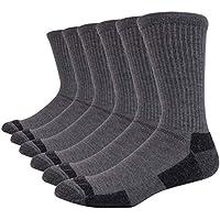 JOYNÉE Men's 6 Pack Athletic Performance Cushion Crew Work Socks Performance All-season