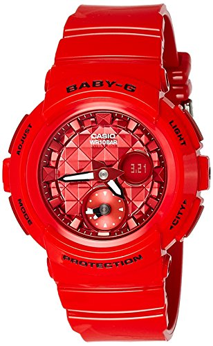 Casio Women's Baby G BGA195M-4A Red Rubber Quartz Sport Watch (Baby G Shock Watches Women Red)
