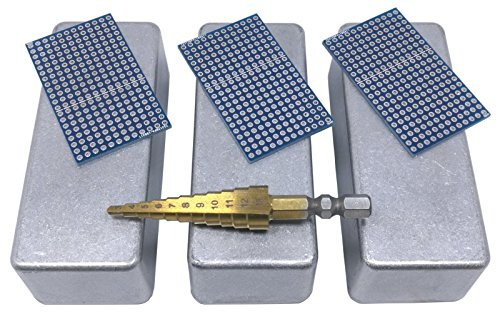 3 pcs 1590A small box pedal pcb enclosure unpainted