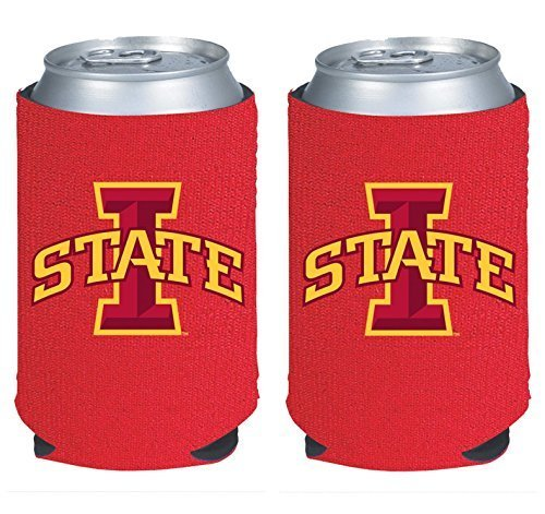 NCAA College 2014 Team Logo Color Can Kaddy Holder Cooler 2-Pack (Iowa State Cyclones) (Iowa State Cyclones Gift)