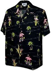 Flamigo in the Pond Men's Tropical Shirts White L (410-3826)