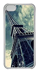 Customized iphone 5C PC Transparent Case - Eiffel Tower Cover