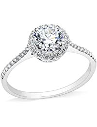3.75CT Stainless Steel Solitaire Engagement Ring Propose Wedding Anniversary Statement