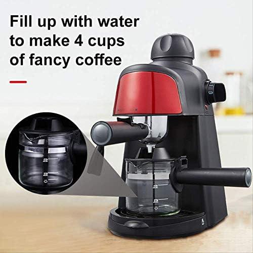 Qinmo Machine à café glacé, Machine à Expresso Pompe de Lait intégré MOUSSEUR système Cafetières Machines à café