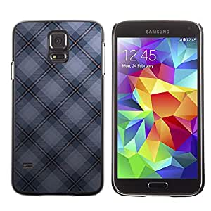 LECELL -- Funda protectora / Cubierta / Piel For Samsung Galaxy S5 SM-G900 -- Texture Checkered --