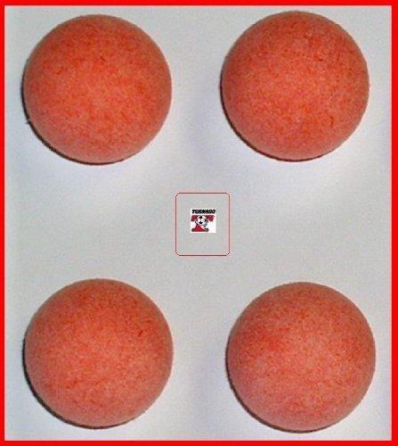 4 RED Tornado Foosball Replacement Foosballs by Tornado