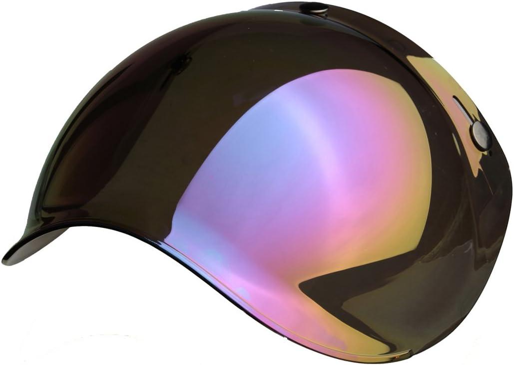 homologu/ée Bubble Biltwell Bell DMD Bandit Yam AFX Nolan AGV Visi/ère en forme de bulle pour casque jet 3/boutons universelle  MULTI TAGLIA Gialla