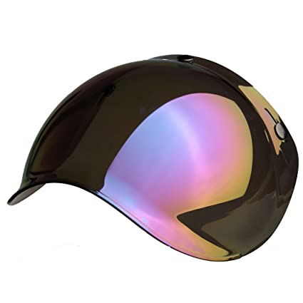 3 Buttons Biltwell Bell DMD Bandit YAM AFX Nolan AGV Bubble Visor Jet Helmet Universal Approval MULTI TAGLIA Arancio