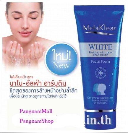 2 pack Mistine Melaklear White Facial Foam 80g. By Mistine Thailand