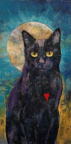 Black Cat Lover Michael Creese Poster Print