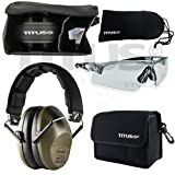 TITUS Top Combos: Safety Earmuffs & Glasses (Olive - Slim, Z87.1 Clear All-Sport)