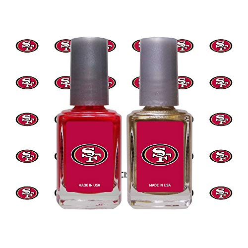 Worthy Promo NFL San Francisco 49ers Nail Care Set, 4-Piece Set, Red, Gold