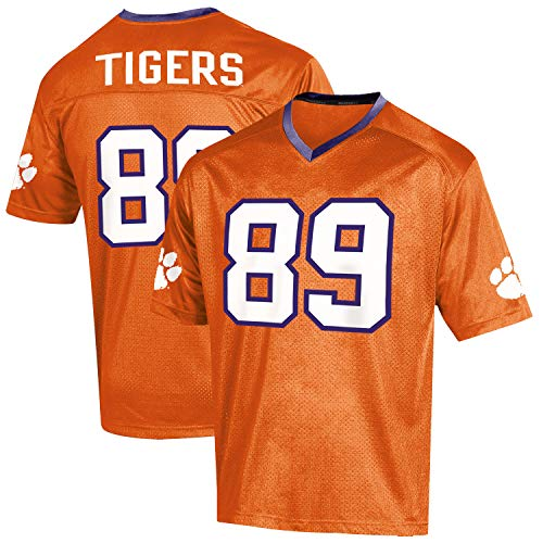 Knights Apparel NCAA Clemson Tigers Youth Replica Football Jersey, XS-Size 5/6
