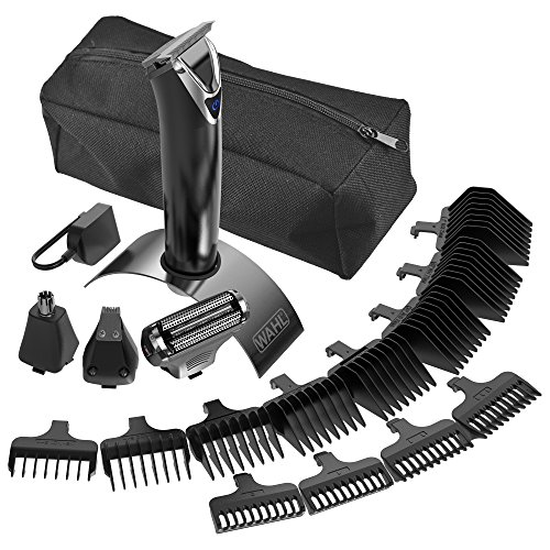 wahl 9864 slate stainless steel trimmer lithium ion wahl beautil. Black Bedroom Furniture Sets. Home Design Ideas