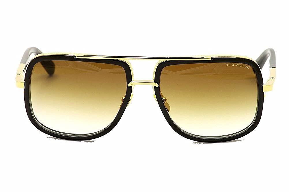 d871d3daa76 Sunglasses Dita MACH ONE DRX 2030 B Shiny 18K Gold-Black w D.Brown to  ClearAR at Amazon Men s Clothing store