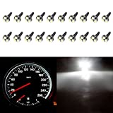 97 honda civic center console - CCIYU 20 Pack White T5 37 73 74 Wedge 3-SMD Speedometer Gauge Cluster LED Light Bulbs